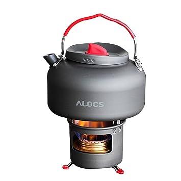 tentock al aire libre de camping de aluminio calentador de agua caldera Set, 1.4L
