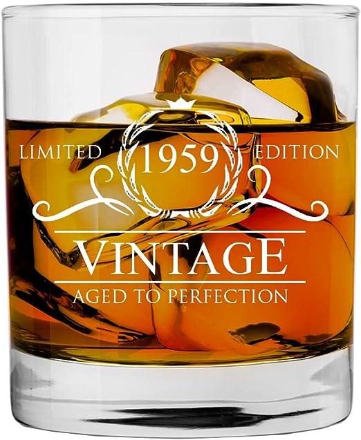 Amazon.com: Vaso de whisky para mujer y hombre de 1959 60 ...