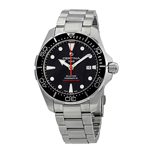 Reloj Certina DS Action Diver Automatic C0324071105100 Esfera Negra: Amazon.es: Relojes