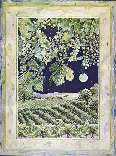 Wine Country Art Fine Lithograph Print (Chardonnay Moon) (Beringer Winery California)