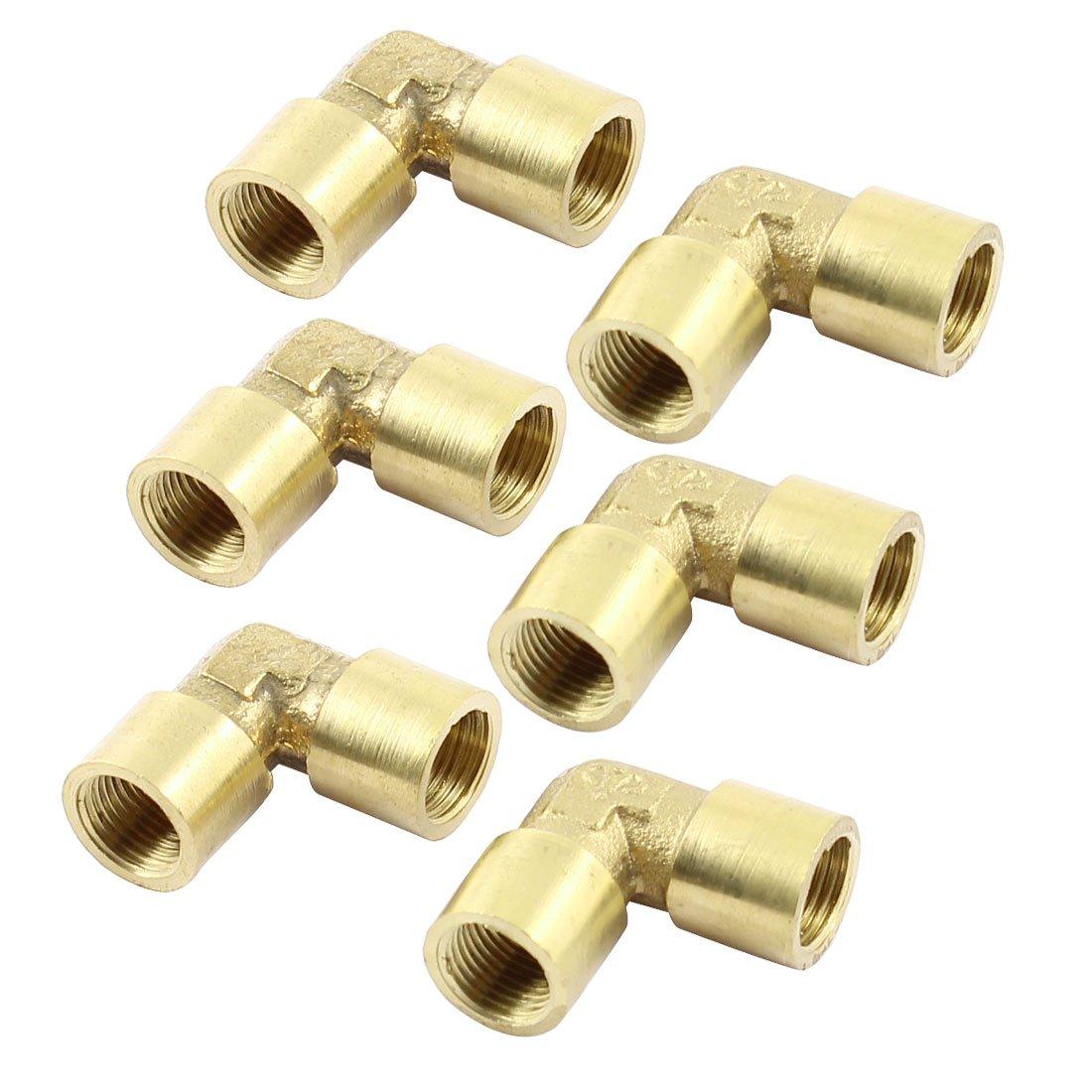 6 piezas en á ngulo recto codo 1/8 NPT conector hembra equivalente para tuberí as de suspensió n Sourcingmap a14051900ux0940