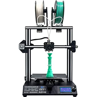 GEEETECH New A20M 3D Printer with Mix-Color Printing, Integrated Building Base & Dual extruder Design, Filament Detector and Break-resuming Function, ...