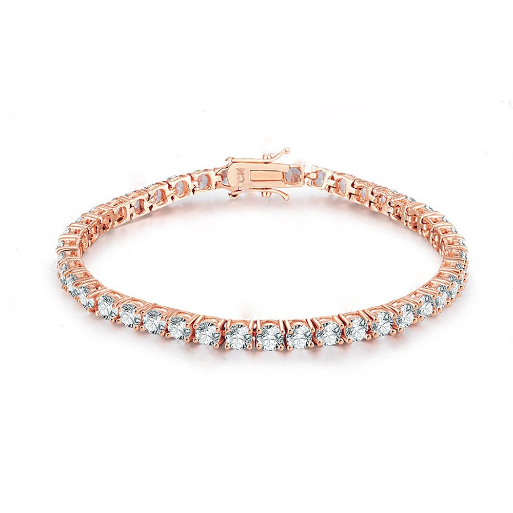 NYC Sterling Cubic Zirconia Classic Tennis Bracelet (rose-gold-plated-brass)