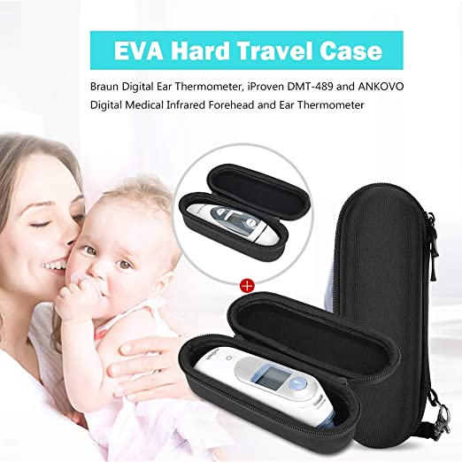 Amazon.com: ProCase Hard EVA Travel Case for Braun Digital Ear Thermometer, Also Compatible with iProven DMT-489 and ANKOVO Digital Medical Infrared ...