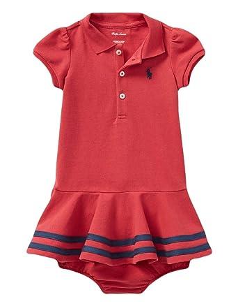 c61152e43dcd Ralph Lauren Baby Girls  Cotton Polo Dress and Bloomer Set ...