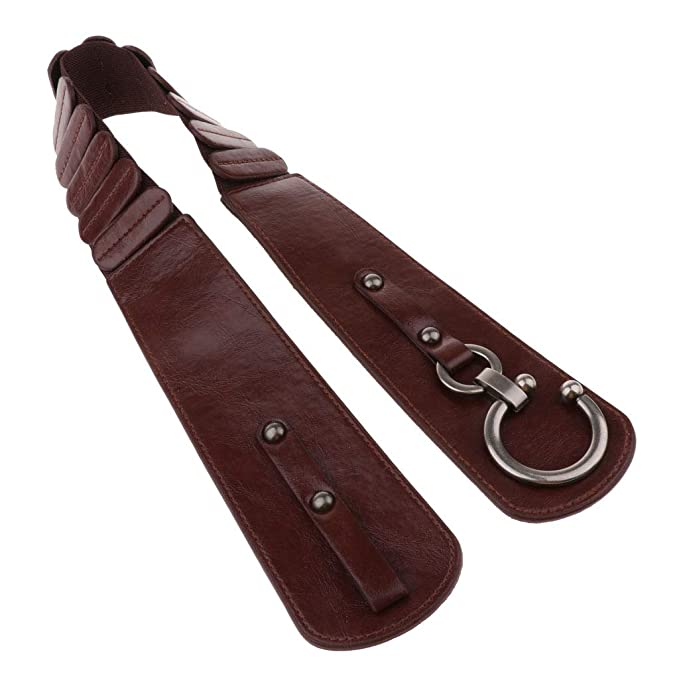 kesoto Cinturón Amplio Elástico de Cuero PU Banda de Cintura ...