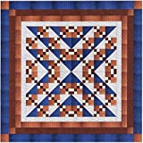 Easy Quilt Kit Beautiful Blues and Browns/Queen