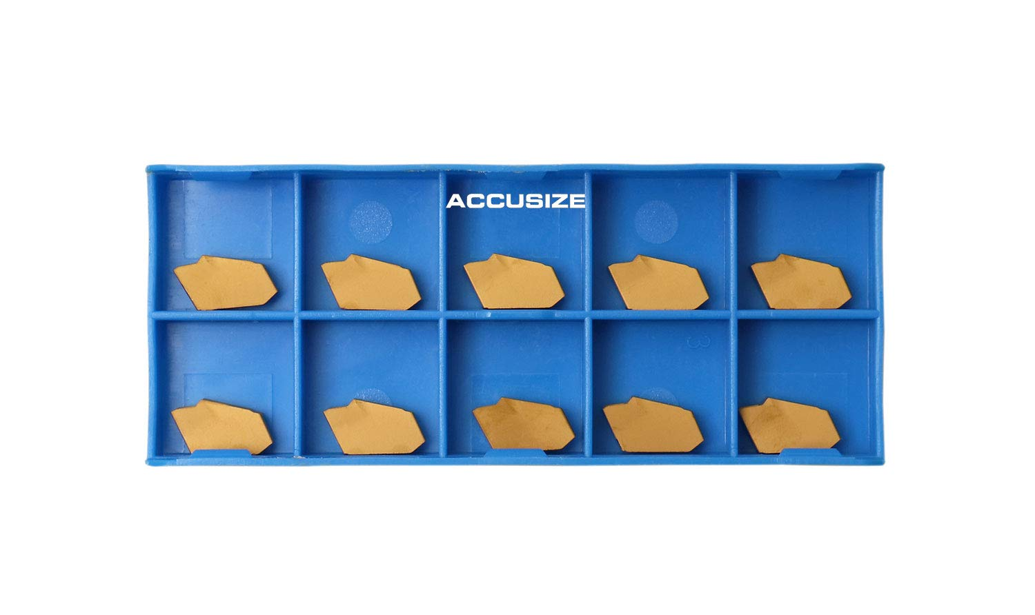 2403-2003x10 Accusize Industrial Tools Gtn-2 Tin Coated Carbide Inserts 10 Pcs//Box