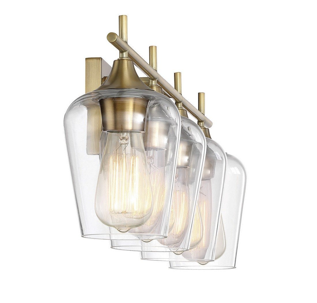 Savoy House Octave 4 Light Bath Bar 8-4030-4-322 in Warm Brass by Savoy House (Image #3)