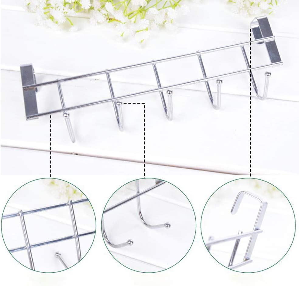 Chutoral door back hook Stainless steel seamless and nail-free Wash Room Hanger Clothes Towel Storage Holder for Over The Door Hook