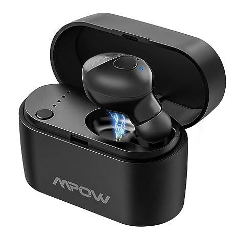 Mpow Auricular Bluetooth 5.0, EM14 Mini Inalámbrico Manos Libres con Caja de Carga Portátil,