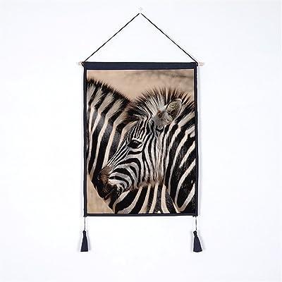 YANYANGXIN L'impression numérique série animale,Peinture Décorative murale fond Zebra accrocher compteur électrique,peinture décoration tapisserie Tissu coton boîte