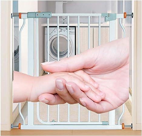 ZEMIN Barrera De Seguridad Escalera Puerta for Niños Perros No Hay Necesidad De Golpear Instalación, Rebote Automático Doble Protección, H78CM (Color : White, Size : W 181-188cm): Amazon.es: Hogar