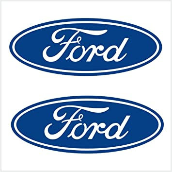 Amazon com 2pcs ford logo decals stickers m1 4x1 1 2 10 x 4 cm blue automotive
