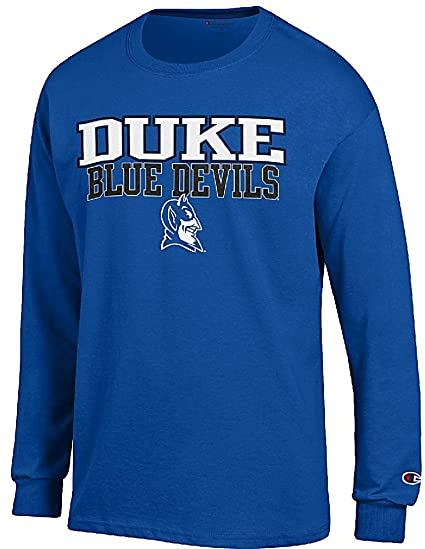 6d59fb40ab00 Duke Blue Devils Mens Royal Arena Long Sleeve Tee Shirt by Champion (Small)