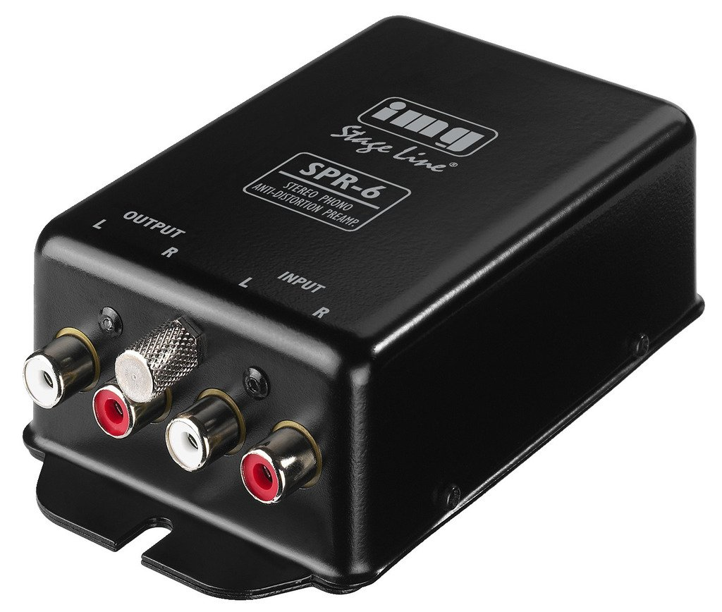 IMG STAGELINE SPR-6 Stereo-Phono-Entzerr-vorverstärker nach RIAA schwarz MONACOR INTERNATIONAL 21.064