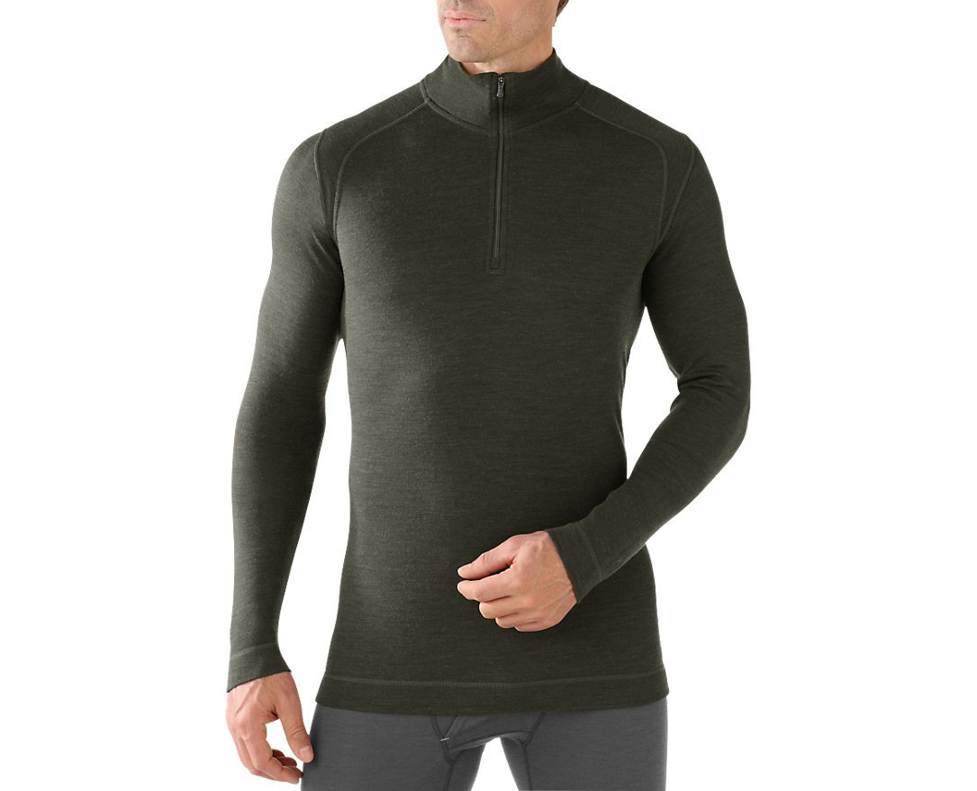 SmartWool Men's NTS Mid 250 Zip T Top, Olive Heather XL by SmartWool (Image #1)