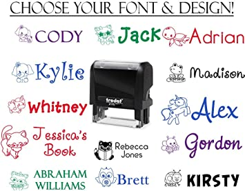 "Custom name stamp /""Your NAME/"" Custom 1 Line Designer Self Inking Rubber stamp"