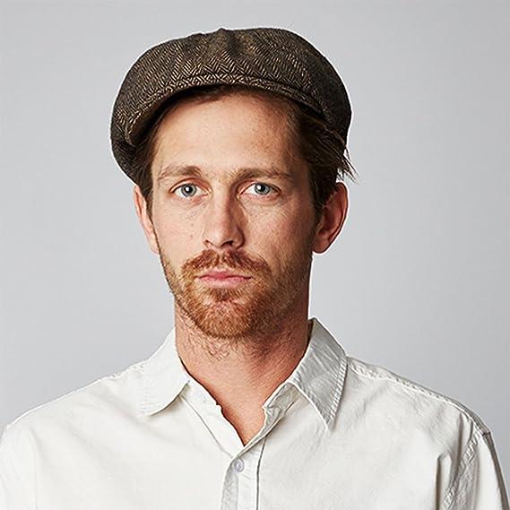 7008a74e724d9 Brixton Hats Brood Newsboy Cap - Brown Khaki Herringbone  Amazon.co.uk   Clothing