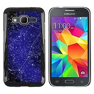 La creatividad de las estrellas - Metal de aluminio y de plástico duro Caja del teléfono - Negro - Samsung Galaxy Core Prime