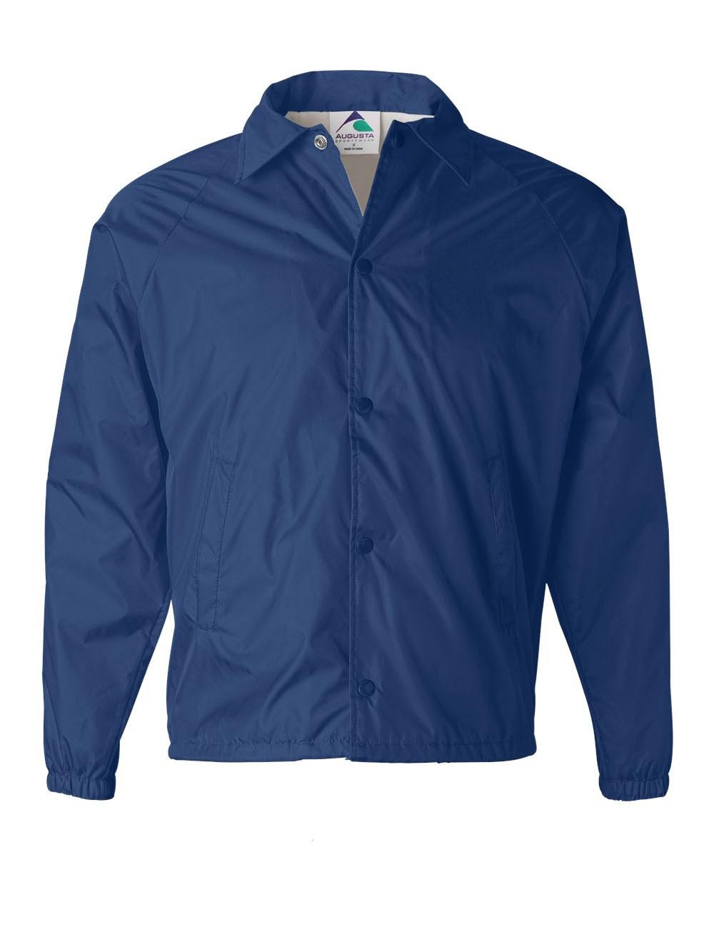 Augusta Sportswear Mens Nylon Coach's Jacket Lined Royal XXXX-Large by Augusta Sportswear