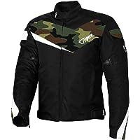 JET Chaqueta Moto Ciclomotor Hombre Textil con Protecciones Ligero Basic ECONOTECH (XS (EU 44-46), Camo Verde)
