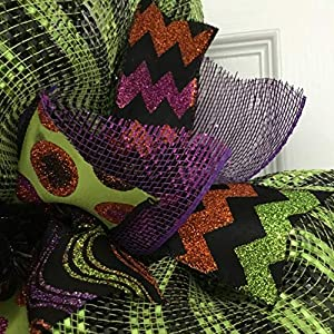 Hocus Pocus Crazy Eyeball Halloween Wreath Handmade Deco Mesh 5