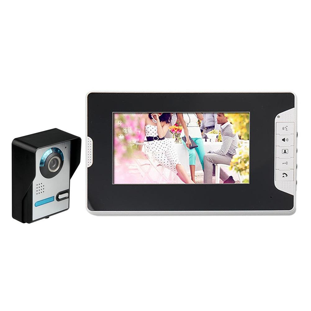 Occitop 7 inch Wired Waterproof Night Vision Video Door Phone Doorbell Intercom Kit