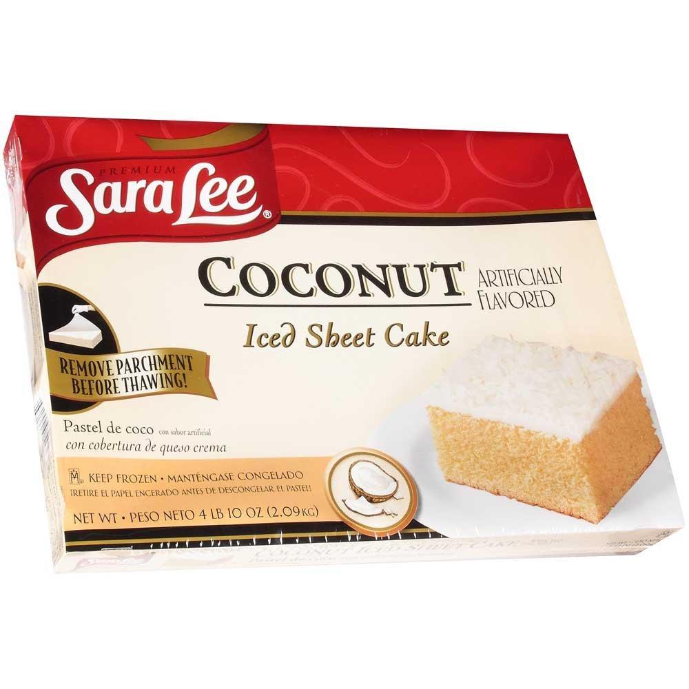 Sara Lee Iced Hoja Pastel De Coco 12 X 16 Inch 4 Por Caso Grocery Gourmet Food
