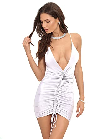 Women Sexy V Backless Party Dresses Club Vestidos De Mujer