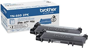 Brother Genuine High-Yield Black Toner Cartridge Twin Pack TN660 2PK (TN6602PK)