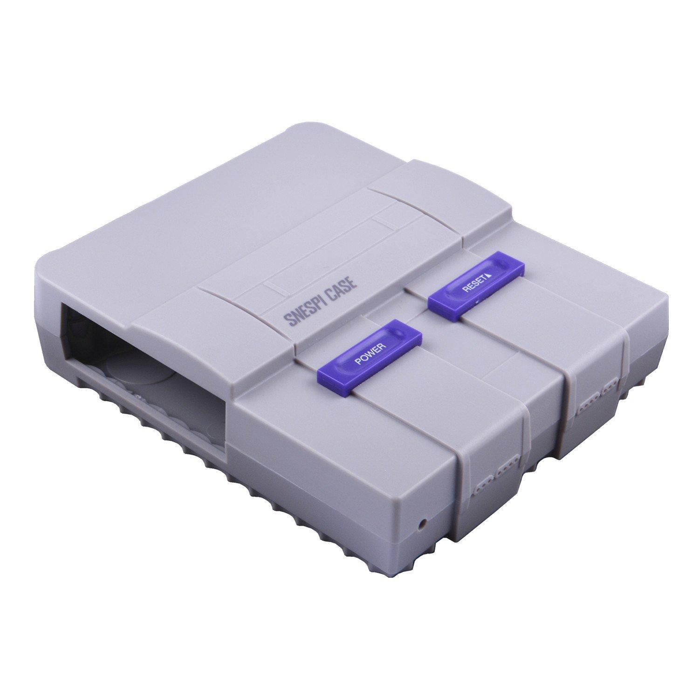 GeeekPi Raspberry Pi 3B + Caja con ventilador de refrigeración, Caja SNESPI Caja mini estilo NES con disipador de calor Raspberry Pi para Raspberry Pi ...