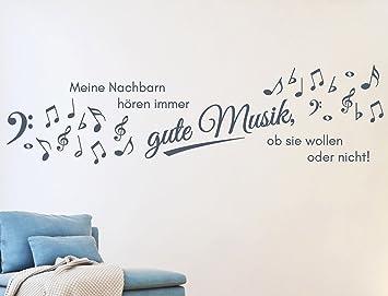 tjapalo® s-pkm164 100x26 Wandtattoo Wohnzimmer Musik Wandtattoo ...