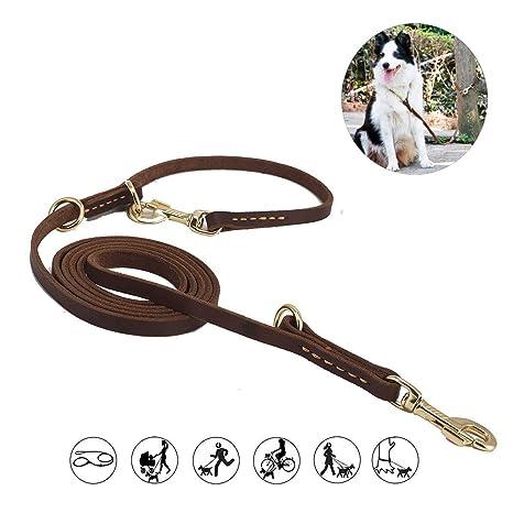 3 M Piel Suave perro Pet Leash Plomo, piel suave marrón oscuro ...
