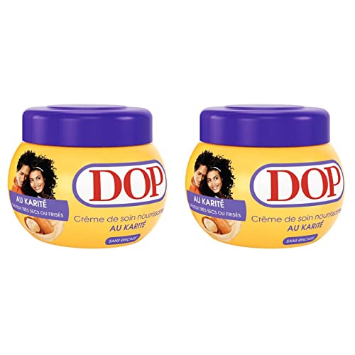 Dop - Crème De Soin Nourrissante Au Karité Pour Cheveux Très Secs Ou Frisés - 300 ml - Lot de 2
