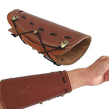 Armschutz lang Wildleder Hellbraun Bogensport