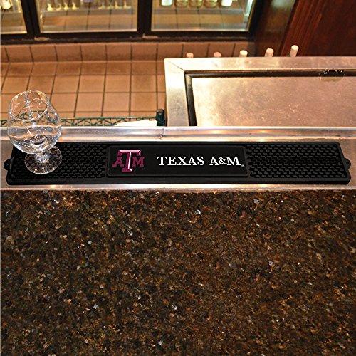 Fanmats Sports Team Logo Design Texas A&M University Rubber Non Spill Safe Serving Bar Kitchen Drink Mat (Pub Table Logo Design)