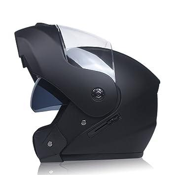 MATEROP Flip Up Racing Casco Modular Dual Lens Casco de Moto Casco Completo Casco Seguro Casco