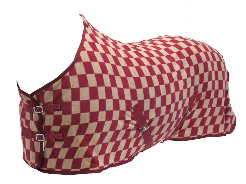 Checkered Field Yard Stable Comfortable Best On Horse Standard Neck Fleece