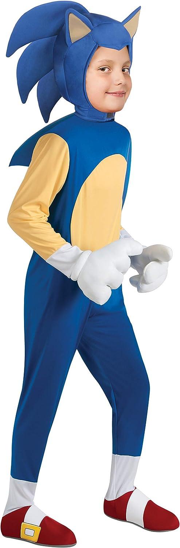 Disfraz de Sonic deluxe para niño - 8-10 años: Amazon.es: Juguetes ...