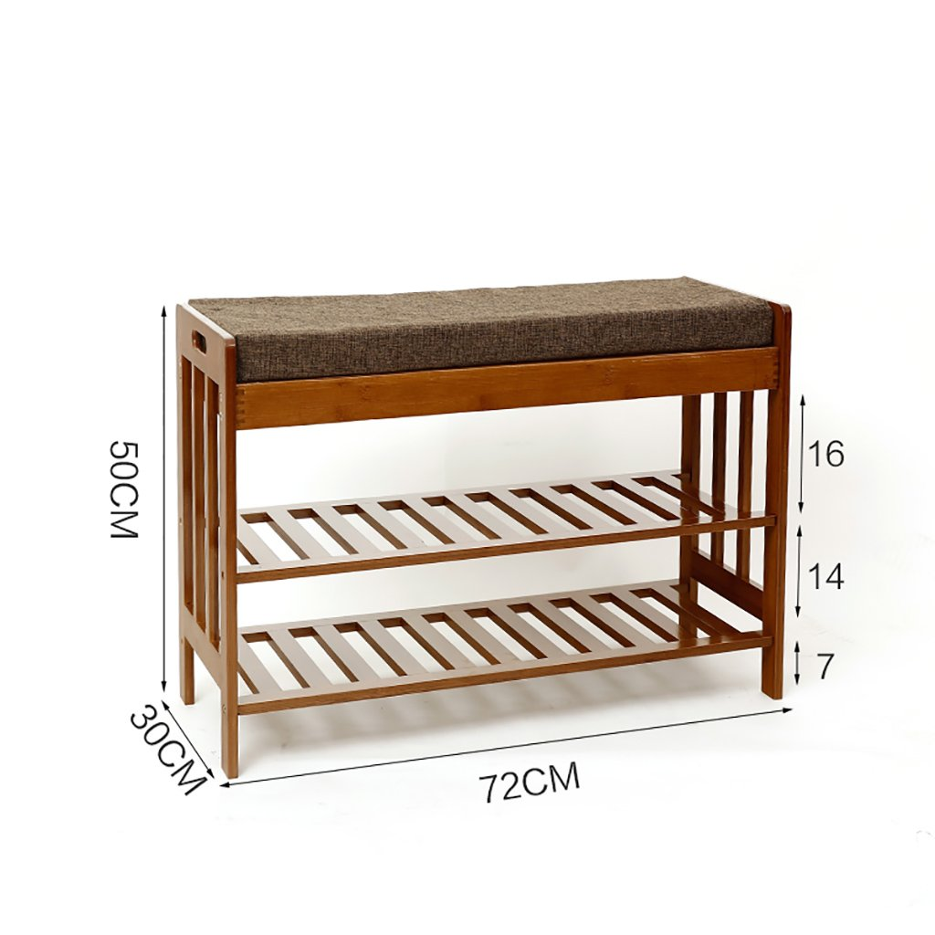 72cm shoes Bench Organizing Rack Natural Bamboo for The shoes Stool Simple Sofa Stool Household Storage shoes Stool Nanzhu shoes Cabinet (Size   57cm)