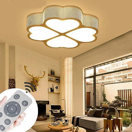YESDA Lámpara de techo LED Moderno 4 Trébol design Lámpara de baño cuadrado Ahorro de energía de blanco Iluminación de techo moderna Ahorro De Energía ...