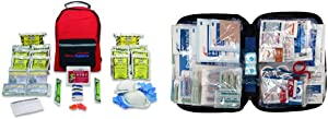 Ready America 70280 Emergency Kit, 2-Person, 3-Day Backpack & First Aid Only 299 Piece All-Purpose First Aid Kit (FAO-442)