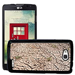 Etui Housse Coque de Protection Cover Rigide pour // M00151670 Sequía Tierra agrietada seca Tierra // LG Optimus L90 D415