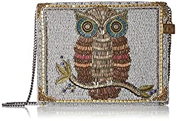 Owl Printed Evening Bag