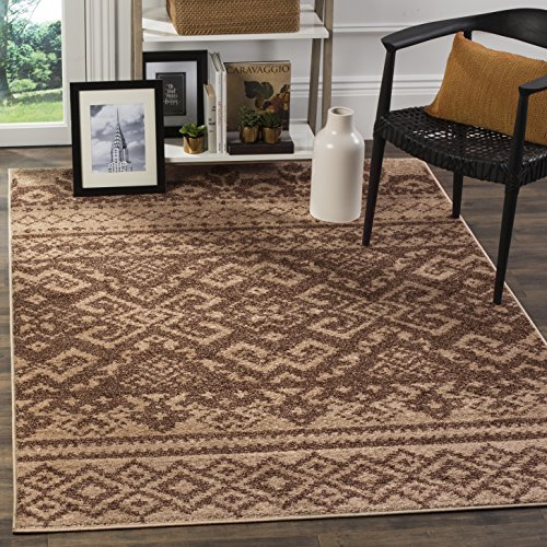 Safavieh Adirondack Collection ADR107C Camel and Chocolate Rustic Bohemian Square Area Rug (4' (Camel Square Rug)