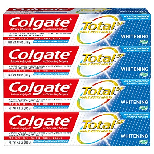 Colgate Total Whitening Toothpaste Gel, 4.8 ounce (2 Pack)