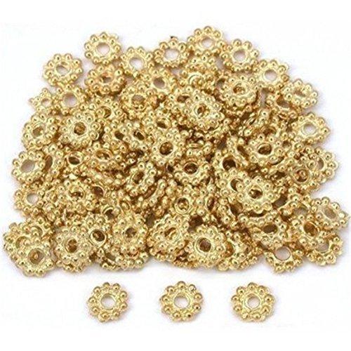 - Beautiful Bead Daisy Flower Bali Spacer Beads Gold Plt 6mm 200pcs