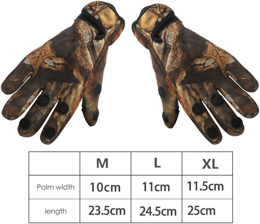 1 par de guantes antideslizantes para pesca al aire libre de tres dedos cortados de neopreno guantes de pesca plegable dedo guantes para pesca al aire libre equitaci/ón senderismo