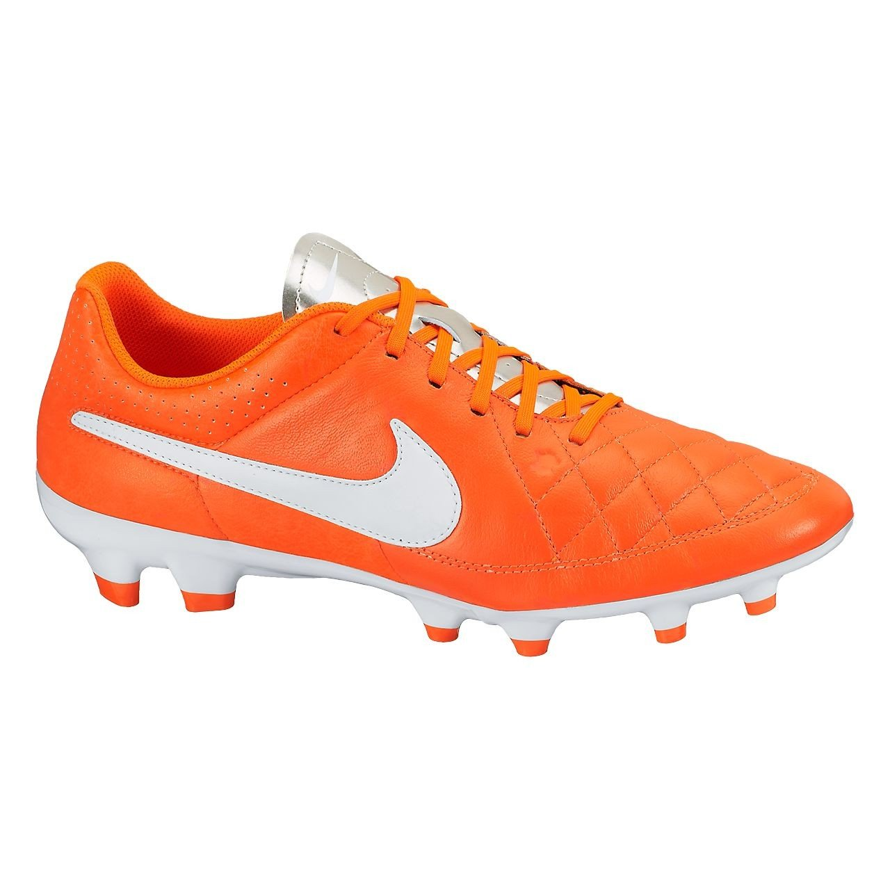 buy cheap 277ac 47458 Amazon.com | Nike Tiempo Genio Leather FG (Orange/White ...